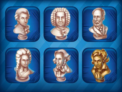 Collection Busts of great composers by GruberJan