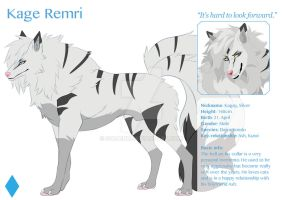 Kage (wolf form) - reference by Kagay