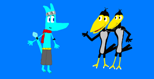 Zippy meets Heckle and Jeckle