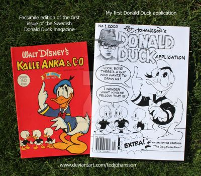 My first Donald Duck application by TedJohansson
