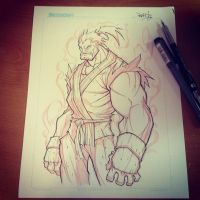 Commish 124 WIP 01 by RobDuenas