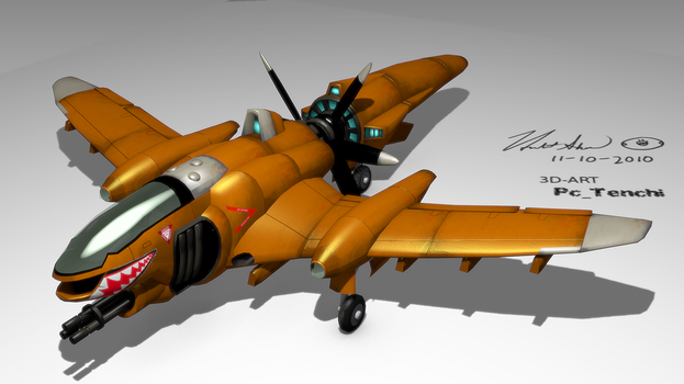 Aircraft Scifi (I shall submit something) by PcTenchi