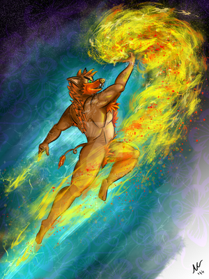 Flaming Uppercut by NeatWolf