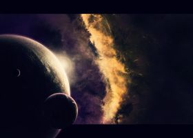 Space Sunset by pedrozsa