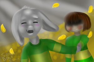 UNDERTALE collab with Candy--fizz (speedpaint) by Satiriical