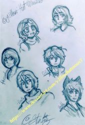 Character Doodles 9-17-2018 by Y3llowHatMous3