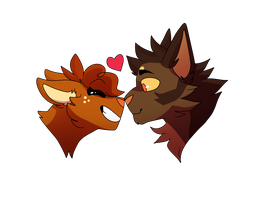 squirrelflight and brambleclaw by seagxll