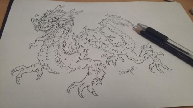 Japanese dragon by Secrets-Are-Quiet
