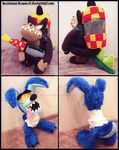 Commissions: Small Ripper Roo and Dingodile Plush by Sarasaland-Dragon