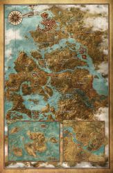 Map of the Witcher world by Scratcherpen