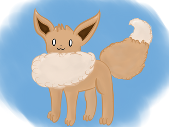 Fluffy Eevee by catas123
