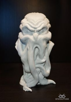 Chtulhu bust resin cast by sfsculpture