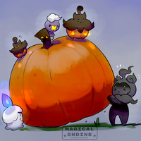 jumbo pumpkin by magicalondine