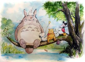 Totoro and friends by MyCKs