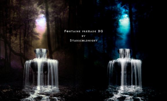 waterfal 3 premade II BG  by starscoldnight by StarsColdNight