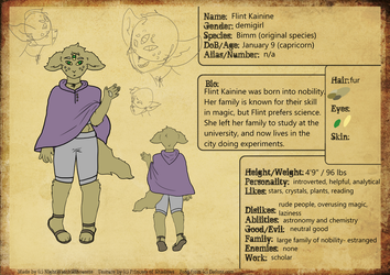 ref sheet- flint kainine by firedivided