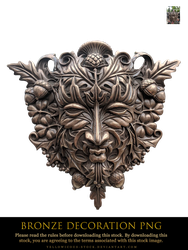 bronze decoration png by yellowicous-stock