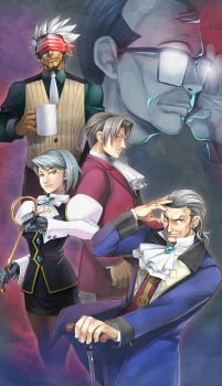 Ace Attorney's prosecutors by gimei