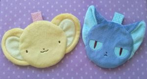 Card Captor Sakura: Kero and Suppi Zipper Pouches by sugarstitch