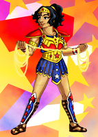 Wonder Woman Redesign by Dial-P-For-Placey