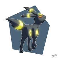 Day 28: Favorite Eeveelution - Umbreon by Fehlung