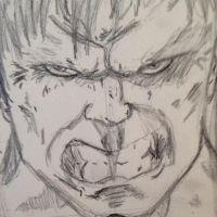 The Hulk practice drawing  by noahdraws12