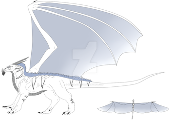 Royal Ice dragon Adopt #16 - CLOSED by NoctaAdopts