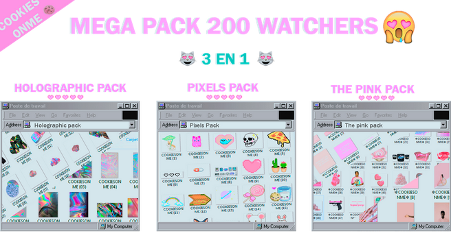 +/MEGAPACK 200 WATCHERS  GRACIASS by COOKIESONME