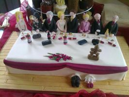 Top Table Cake by Dragonsanddaffodils