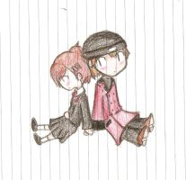 Shinjiro and Minako by Wake-up-Reverie