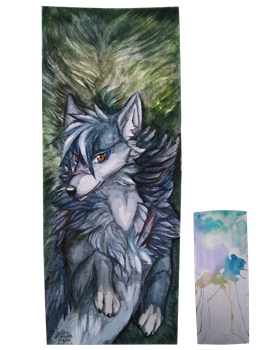 Single-sided Bookmark Commission by Capukat