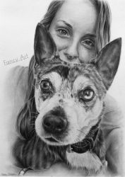 Charlotte and her dog by Odette1994