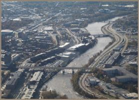 Manchester  NH Bird View by isramedia