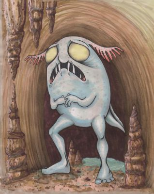 Cave Monster For David by angelacapel