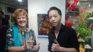 Michael Andrew Law and Artist Alexandra Prajer by michaelandrewlaw