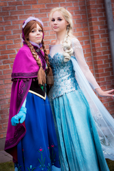 Frozen Sisters by elyoncosplay