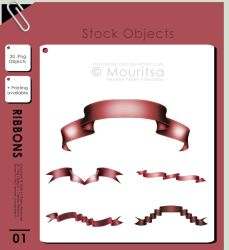 Object Pack - Ribbons by iMouritsa