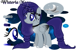 |Custom Pony| Wisteria Moon by AngelLightYT