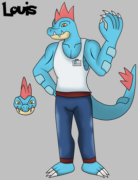 Louis the Feraligatr by Draw-ze-Drawing
