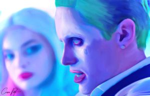 Joker and Harley Quinn Digital Painting by DesignByCiara