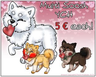 Multi Soosh YCH - 5 EUR each by ThorinFrostclaw