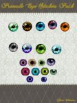 Premade Eye Stickers Pack by Lady-Valentine-Art83