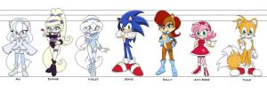 Sonic GForce line up by Eszra01