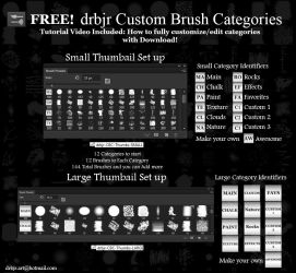 FREE! drbjr Custom Brush Categories - PS Brushes by drbjrart