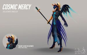 OVERWATCH - Cosmic Mercy skin by LuleMT