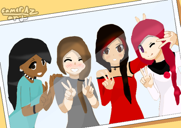 Me and my online friends by GamerAz