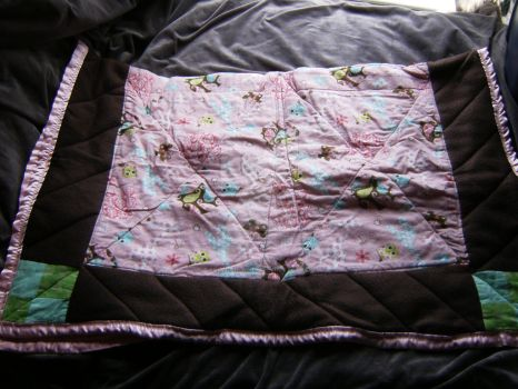 Pink Safari Quilt by cardnial-wolf