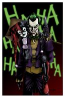 Joker and Harley colored by MyDyingRose