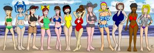Beach Ladies 1 by JFMstudios