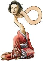 Yokai Monsters: Rokurokubi by Loneanimator